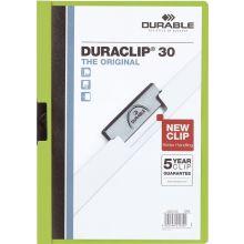 DURABLE Klemm-Mappe 2200 Duraclip A4 für 30 Blatt grün