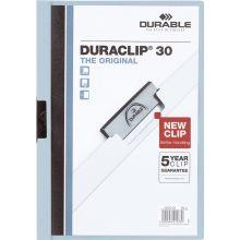 DURABLE Klemm-Mappe 2200 Duraclip A4 für 30 Blatt blau