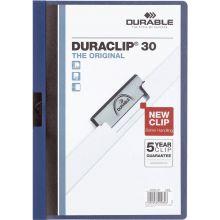 DURABLE Klemm-Mappe 2200 Duraclip A4 für 30 Blatt dunkelblau