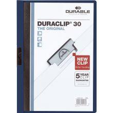 DURABLE Klemm-Mappe 2200 Duraclip A4 für 30 Blatt nachtblau