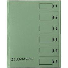 BENE Ordnungsmappe 83600 A4 mit 6 Fächern grün