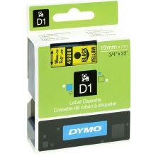 DYMO Schriftband 45808 D1 19 mm x 7 m schwarz auf gelb