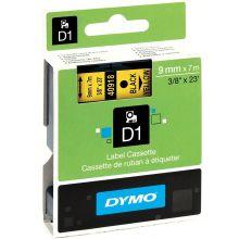 DYMO Schriftband 40918 D1 9 mm x 7 m schwarz auf gelb