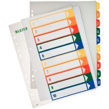 LEITZ Farbregister 1293 A4 1-10 aus Kunststoff bunt