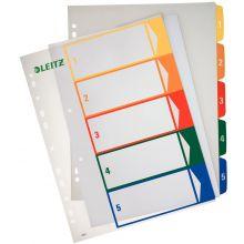 LEITZ Farbregister 1291 A4 1-5 aus Kunststoff bunt