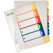 LEITZ Farbregister 1292 A4 1-6 aus Kunststoff bunt