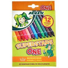 JOLLY Filzstifte Superstars 4445 dicke Spitze 12 Stück mehrere Farben