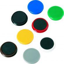 ALCO Magnete Ø 2,4 cm 10 Stück mehrere Farben