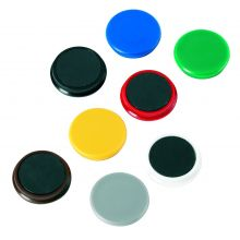 ALCO Magnete Ø 3,2 cm 10 Stück schwarz