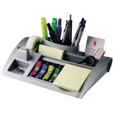 POST-IT® Tisch-Organizer C50 inkl. Haftnotizen, Index-Haftstreifen und Klebeband silber