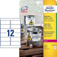 AVERY ZWECKFORM Wetterfeste Etiketten L4776-20 240 Stück 99,1 x 42,3 mm weiß