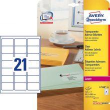 AVERY ZWECKFORM Adressetiketten L7560-25 525 Stück 63,5 x 38,1 mm transparent