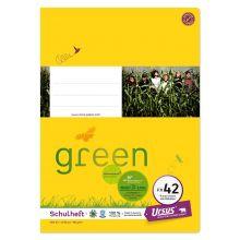 URSUS GREEN Heft FX42 A4 40 Blatt mit Rahmen liniert