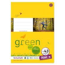URSUS GREEN Heft FX43 A4 40 Blatt liniert mit Korrekturrand