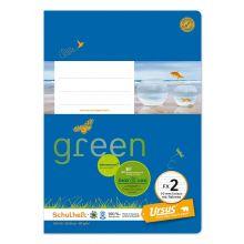 URSUS GREEN Heft FX2 A5 20 Blatt mit Rahmen liniert