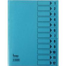 BENE Ordnungsmappe 84800 A4 mit 12 Fächern intensivblau