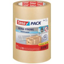 TESA Verpackungsband 51124 3 Stück 50 mm x 66 m transparent