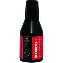 KORES Stempelfarbe 27 ml schwarz