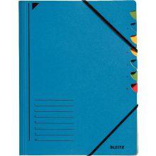 LEITZ Ordnungsmappe 3907 A4 7 Fächer mit Gummizug blau