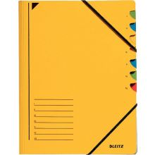 LEITZ Ordnungsmappe 3907 A4 7 Fächer mit Gummizug gelb