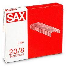 SAX Heftklammern 23/8 1000 Stück Stahl silber