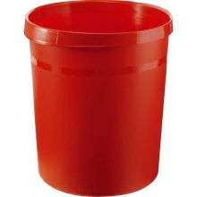 HAN Papierkorb 18190 aus Kunststoff 18 Liter rot