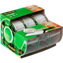 SCOTCH Klebeband Magic mit Abroller 3 Stück 19 mm x 7,5 m transparent