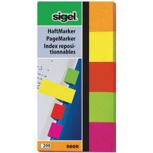 SIGEL Index HN650 50 x 20 mm 5 x 40 Blatt mehrere Farben