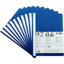 BIELLA Schnellhefter 1702001 10 Stück A4 aus Kunststoff blau