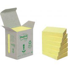 POST-IT Recycling-Haftnotizen 654 6 Blöcke 76 x 76 mm gelb
