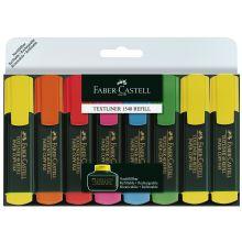 FABER CASTELL Textliner 48 mit Keilspitze 8er Etui 1-5 mm farbig sortiert