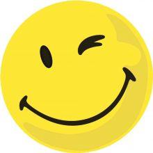 FRANKEN Moderationskarten Wertungssymbol positiv 100 Stück Ø 9,5 cm gelb