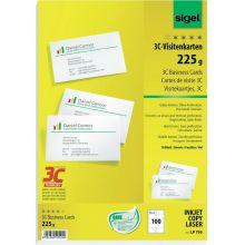 SIGEL Visitenkarten LP795 100 Stück A4 85 x 55 mm weiß