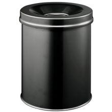 DURABLE Papierkorb 3305 Safe 15 Liter mit Flammenlöschkopf ø 26 cm schwarz