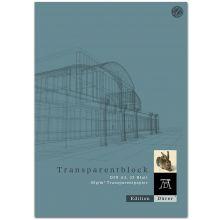 EDITION DÜRER Transparentpapierblock A3 25 Blatt 80 g/m² transparent