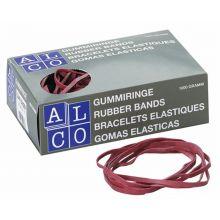 ALCO Gummibänder 200 x 6 mm 1 kg rot