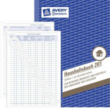 AVERY ZWECKFORM Haushaltsbuch 201 A5 36 Blatt weiß
