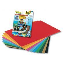 FOLIA Zeichenblock Naturpapier A4 20 Blatt mehrere Farben