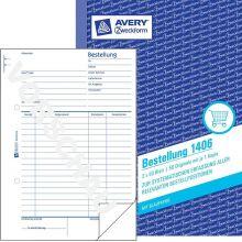 AVERY ZWECKFORM Bestellungen 1406 A5 hoch 2 x 50 Blatt weiß/weiß