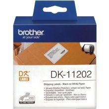 BROTHER Einzeletiketten DK-11202 300 Stück 6,2 x 10 cm weiß
