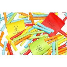 Röllchenlose Nieten 100 Stück mehrere Farben