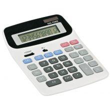 PAGRO Taschenrechner M5612 Dualpower weiß/grau