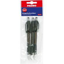PAGRO Kugelschreiber 3 Stück M schwarz