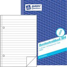 AVERY ZWECKFORM Durchschreibbuch 904 mit Blaupapier DIN A5 2x50 Blatt liniert