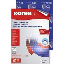 KORES Durchschreibepapier 78478 A4 100 Blatt blau