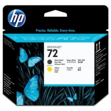 HP Druckkopf Nr. 72 C9384A schwarz/gelb
