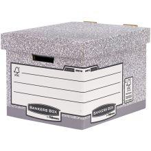 FELLOWES Aufbewahrungsbox Bankers Box R-Kive Standar mit Archivdruck grau