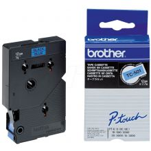 BROTHER Schriftband P-Touch 12 mm x 7,7 m schwarz auf blau