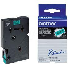 BROTHER Schriftband P-Touch 12 mm x 7,7 m schwarz auf grün