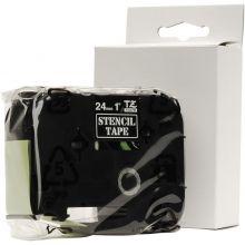 BROTHER Schablonenbandkassette für P-Touch 2,4 cm schwarz auf transparent